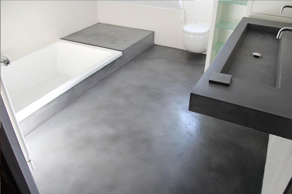 Sols en b ton cir entreprise les ateliers de v rone - Platre hydrofuge salle de bain ...